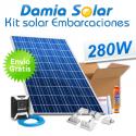 Kit solar completo para embarcaciones con panel 280W 24V para instalación a 12V