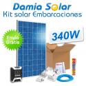 Kit solar completo para embarcaciones con panel 340W 24V para instalación a 12V