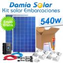 Kit solar completo para embarcaciones y barcos 540W 12V