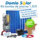 Kit solar bomba de piscina (Bomba de 1,5 CV)
