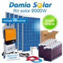 Kit solar 2000W: Luz, TV, nevera congelador, lavadora, etc. ONDA PURA y CARGADOR