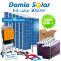 Kit 3000W Uso Diario: Nevera Congelador, lavadora, TV microondas, etc. ONDA PURA