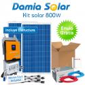 Kit solar 800W Uso en verano y fines de semana. ONDA PURA y CARGADOR