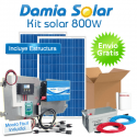 Kit solar 800W: nevera con congelador, luz, TV. ONDA PURA BLUE