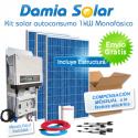 Kit autoconsumo solar 1kW monofásico con excedentes