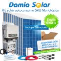 Kit autoconsumo solar 5kW monofásico con excedentes
