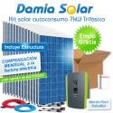 Kit autoconsumo solar 7kW trifásico con excedentes