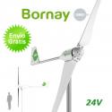 Aerogenerador Bornay 1500W 24V - Energía eólica