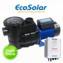 Bomba depuradora solar para piscina Ecosolar PS370 (1/2 CV) + regulador