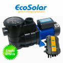 Bomba depuradora solar para piscina Ecosolar PS550 (550W) + regulador
