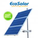 Estructura solar para postes para colocar hasta 3 placas de 100W a 160W