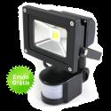 Foco led de 10W con sensor de movimiento y de luz
