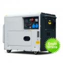Generador electrico diesel DG6000SE Automático (silencioso)
