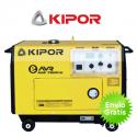 Grupo electrógeno diesel Kipor KDE7500TD (silencioso)