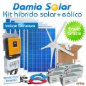 Kit híbrido solar + eólico 3000W Uso Diario: Nevera, lavadora, microondas, etc