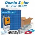 Kit solar 1000W Uso Diario: nevera con congelador luz, TV. ONDA PURA y CARGADOR