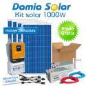 Kit solar 1000W: Luz, TV y nevera. Con inversor ONDA PURA y CARGADOR