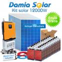 Kit solar 12000W Uso Diario: Placa inducción, Nevera Combi, Aire acondicionado..