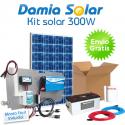 Kit solar 300W Uso Diario Cuasi-Mono: iluminación. ONDA MODIFICADA