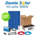 Kit solar 300W Uso Diario: iluminación. Con inversor ONDA MODIFICADA