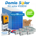 Kit solar 4500W ECO Uso Diario: Nevera congelador, TV, lavavajillas, DVD, etc