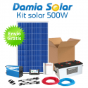 Kit solar 500W: Luz y TV. Con inversor ONDA MODIFICADA