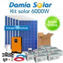 Kit solar 6000W ECO Uso Diario: Placa inducción, Nevera-Congelador, lavadora...