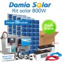 Kit solar 800W Uso Diario Cuasi-Mono: Luz, TV, portátil, DVD.. MODIFICADA