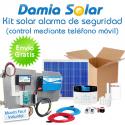 Kit solar alarma de seguridad GSM (comunicación directa a teléfono móvil)