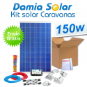 Kit solar completo para autocaravanas 150W