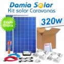 Kit solar completo para autocaravanas 320W
