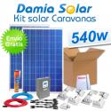 Kit solar completo para caravanas 540W 12V