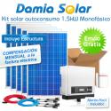 Kit autoconsumo solar 1,5kW monofásico con pinza amperimétrica