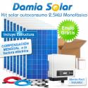 Kit autoconsumo solar 2,5kW monofásico con pinza amperimétrica