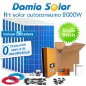 kit autoconsumo solar 2000W de inyección cero