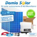Kit autoconsumo solar 2kW monofásico con pinza amperimétrica