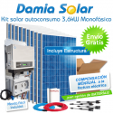 Kit autoconsumo solar 3,6kW monofásico Inyección Cero