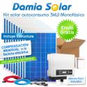 Kit autoconsumo solar 3kW monofásico con excedentes