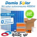 kit autoconsumo solar 4000W de inyección cero