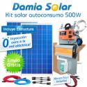 kit autoconsumo solar 500W de inyección cero