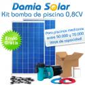 Kit solar bomba depuradora de piscina (Bomba de 0,8 CV)