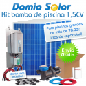 Kit solar bomba depuradora de piscina (Bomba de 1,5 CV)