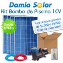 Kit solar bomba depuradora de piscina (Bomba de 1 CV)