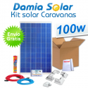 Kit solar completo para caravanas 100W