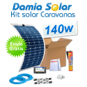 Kit solar para caravanas 140w con placas flexibles