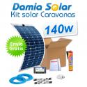 Kit solar para caravanas 140w con placas flexibles