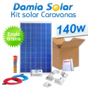 Kit solar completo para caravanas 140W