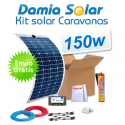 Kit solar para caravanas 150w con placas flexibles