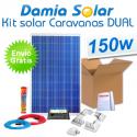 Kit solar completo para autocaravanas 150W Dual. Para cargar 2 baterías