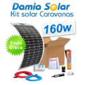Kit solar para caravanas 160w com painéis flexívels